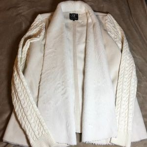 Super soft faux fur sweater jacket size small